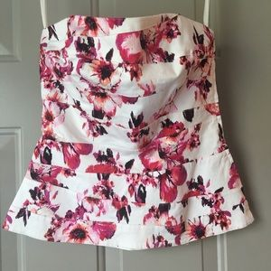 WHBM Floral Corset Top Size 0